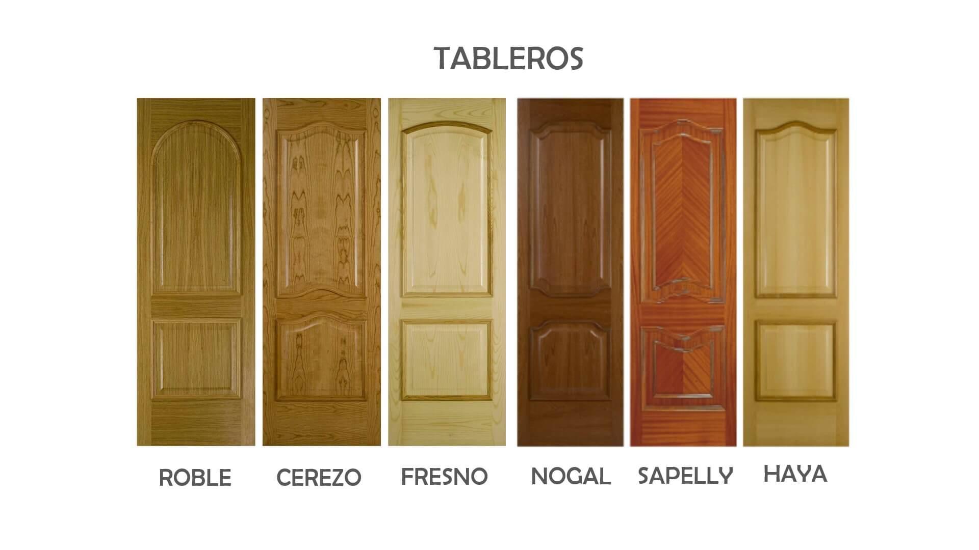 tableros puertas