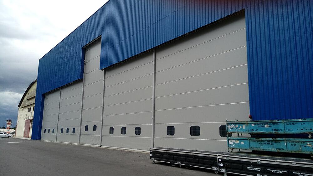 Puertas correderas telescopicas hangar