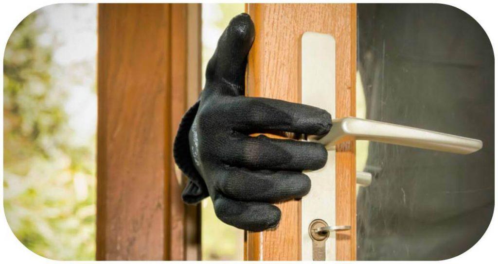 puerta acorazada ladron El Escorial