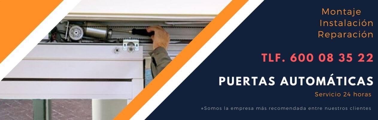 reparación puertas automáticas La Moraleja